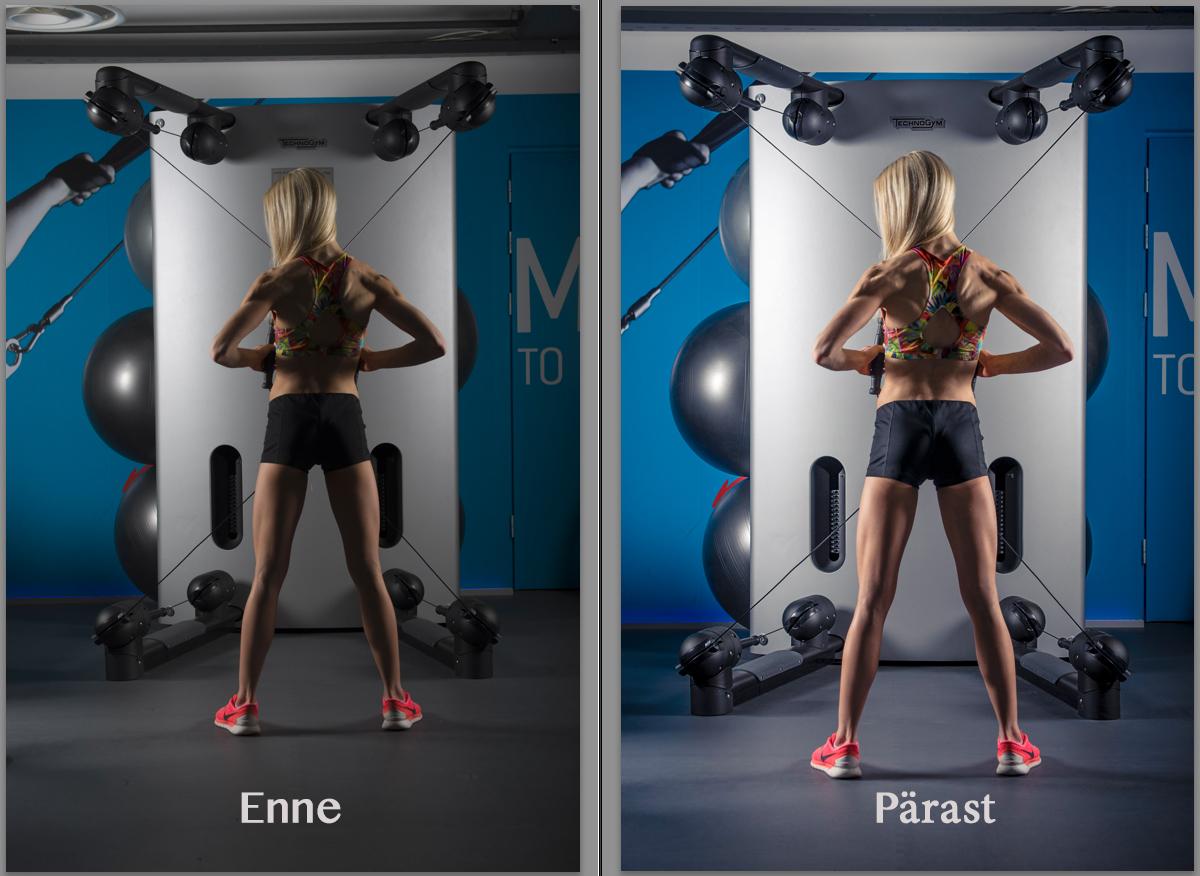 Enne ja pärast, fototöötlus ja selle tulemused.