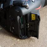 Nikon D500 memory card slots