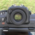 Nikon D500 viewfinder, open position