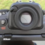 Nikon D500 viewfinder, closed position