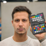 Photo of my assistant using the color profile created with the ColorChecker