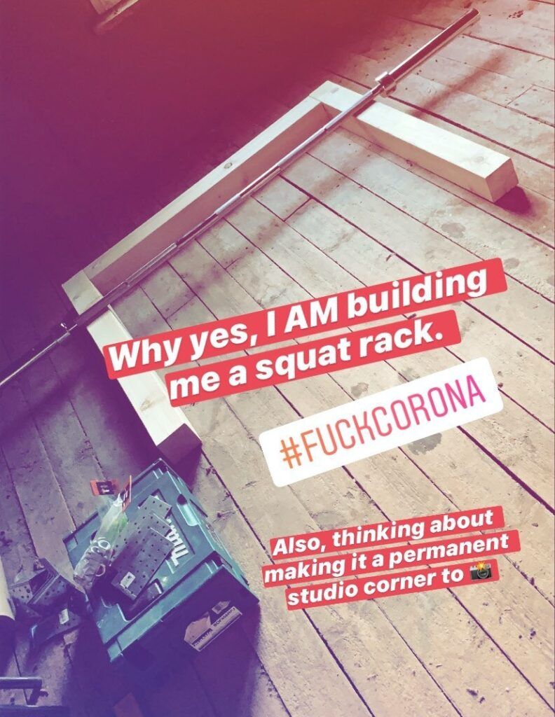 The base for the DIY squat-rack