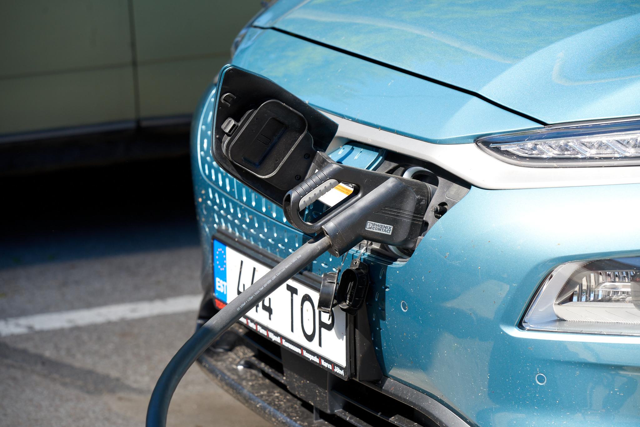The plug of Hyundai Kona Electric