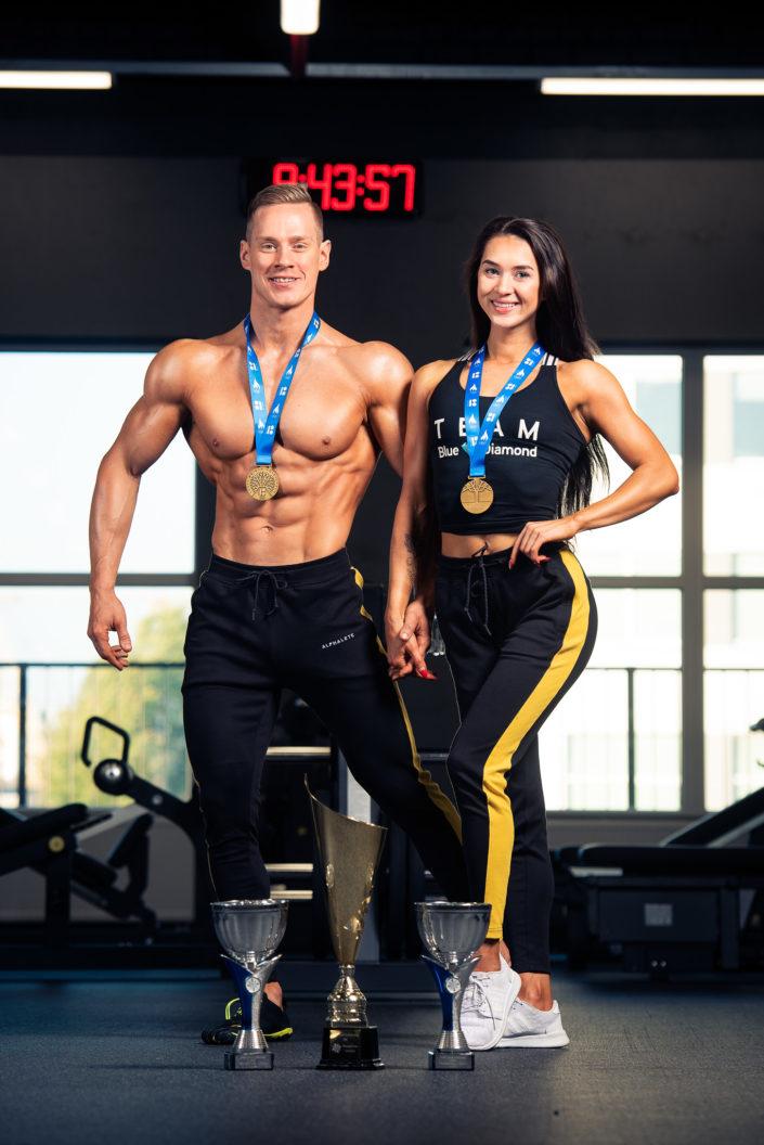 Kulturist Ats Lahi ja bikiini fitness atleet Liis Marian Toomse